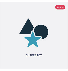 Two color shapes toy icon from toys concept vector