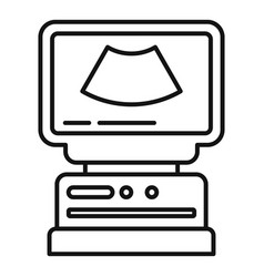 Ultrasound icon outline style vector