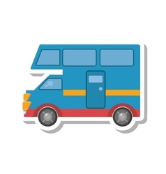 Van vehicle transport isolated icon vector