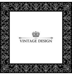 vintage royal retro frame ornament black vector image