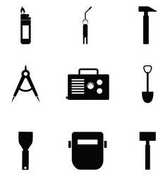 welding icon set vector image