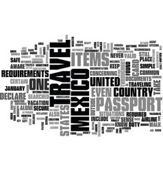 What travel requirements to mexico should you vector