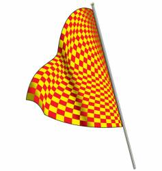 yellow-red racing flag vector image