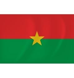 Burkina Faso waving flag vector image