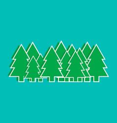 christmas trees graphics vector image