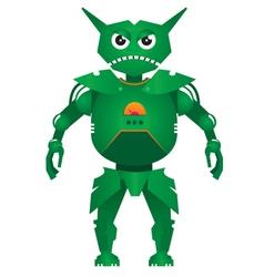 combat robot vector image vector image