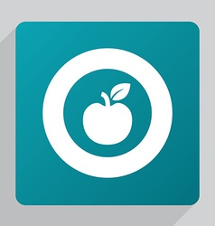 flat apple icon vector image vector image