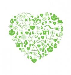environmental heart vector image