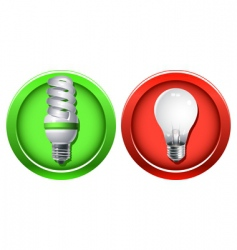 replacement of outdated incandescent bulbs vector image vector image