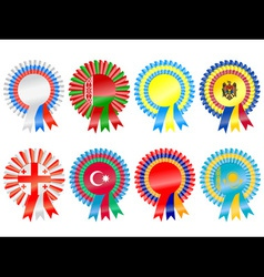 rosettes to represent eastern european countries i vector image