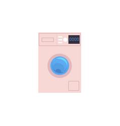automatic household washer washing machine vector image
