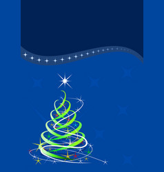 christmas template blue background with stars vector image vector image