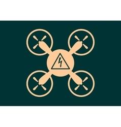 Quadrocopter icon high voltage danger symbol vector