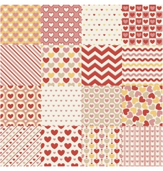 seamless heart retro pattern vector image