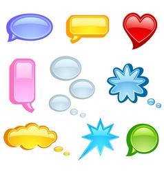 Speech bubble vector image vector image