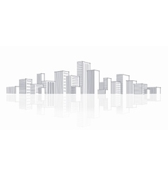 The sketch of a city skyline vector image vector image