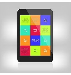 ui colorful design for mobile devices vector image vector image