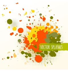 Inky colorful splashes vector