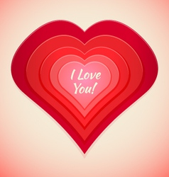 red abstract heart label vector image vector image