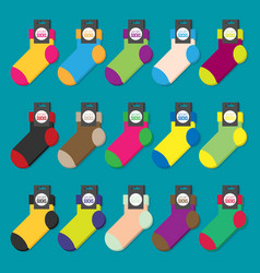 set of colorful socks flat ilustration vector image vector image
