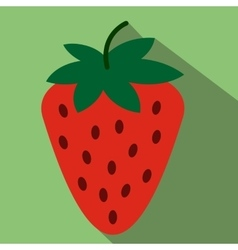 Strawberry flat icon vector image vector image