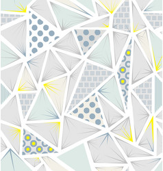 structure of triangles with different textures vector image vector image