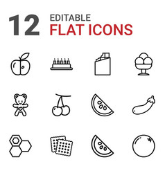 12 sweet icons vector