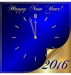 2016 new year gold and blue vector image