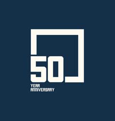 50 year anniversary square template design vector
