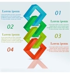 Abstract 3D Infographic triangles vector