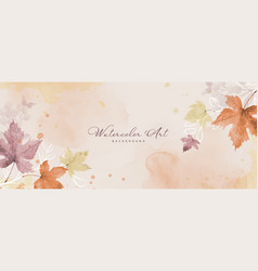 abstract art autumn orange background with maple vector image