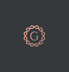 Abstract linear monogram letter g logo icon design vector