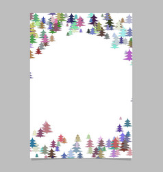 abstract random seasonal pine tree design vector image