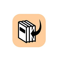 add to library symbol icon vector image
