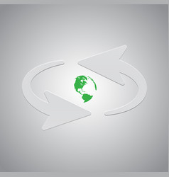arrows and earth vector image