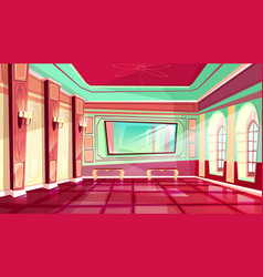 Ballroom of royal palace hall vector
