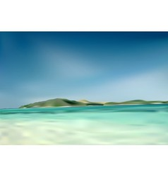 Beach and Island vector image