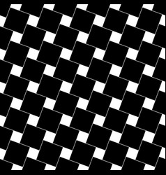 Black and white abstract seamless square pattern vector