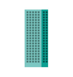 blue aquamarine tall building vector image