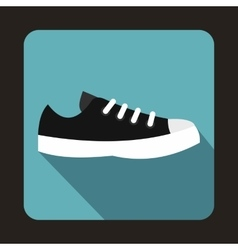 Blue sneaker icon flat style vector image