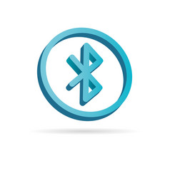 Bluetooth 3d icon simple logo of bluetooth sign vector