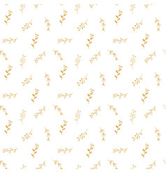 branches hand drawn doodles seamless pattern vector image