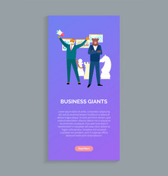 business giants tiger and beer boss suits isolated vector image