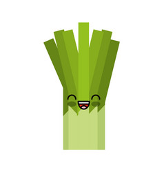 celery fresh vegetable kawaii character vector image