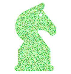 chess horse mosaic of dots vector image
