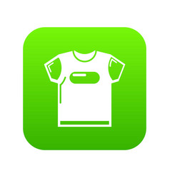 child t shirt icon green vector image