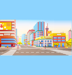 Cityscape and modern roads city town 3d style vector