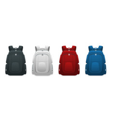 Colorful school backpacks backpacks for vector