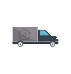 commercial delivery truck isolated icon vector image