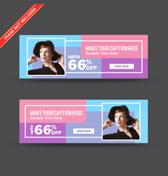 Creative colorful web banners vector